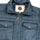 PRETTY GREEN Funnel Neck Quilted Retro Ski Jacket