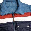 PRETTY GREEN Reversible Quilted Panel Jacket BLUE