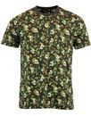 pretty green riley print mod paisley camo t-shirt