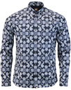 pretty green shirt navy palatine mod