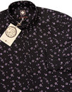 Ulberry PRETTY GREEN 1960s Mod Floral Shirt GREY