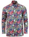 pretty green beatles walrus floral kaftan shirt