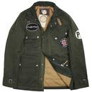 PRETTY GREEN 60's Waxed Cotton Motorcycle Jacket