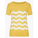 mademoiselle yeye zick zack knitted top yellow