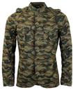 PRETTY GREEN RETRO MOD LENNON TUNIC JACKET CAMO
