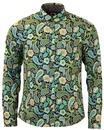 Louis PRETTY GREEN Psychedelic Paisley Shirt