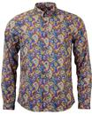 PRETTY GREEN RETRO MOD 60S PAISLEY SHIRT