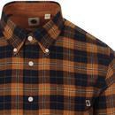 PRETTY GREEN Retro Bushed Cotton Check Shirt (O)