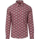pretty green mens liberty sunflower print long sleeve shirt pink