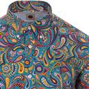 PRETTY GREEN 60s Mod Psychedelic Paisley BD Shirt