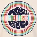 PRETTY GREEN Retro 60s Pop Art Logo Tee (White)