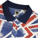 PRETTY GREEN Union Jack 60s Mod Pop Art Polo Top