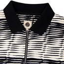 PRETTY GREEN Sixties Mod Jacquard Zip Neck Polo