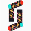 + HAPPY SOCKS X QUEEN 4 Pack Retro Socks Gift Box