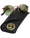 RAY-BAN Retro Mod Sixties Bronze Round Sunglasses