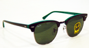 Ray-Ban Clubmaster Retro Mod Sunglasses (Green)