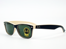 RAY-BAN WAYFARER RETRO MOD SUNGLASSES CREAM BLACK
