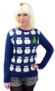 Frosty Retro 70s Indie Snowman Christmas Jumper B