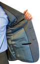 Retro Sixties 2 Button Slim Fit Mod Check Suit (G)