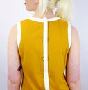 Dusty Retro Mod Sixties Mini Dress (Mustard)