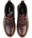 Clayton Retro Mod Smooth Leather Chukka Boots (O)