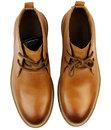 Clayton Retro Mod Smooth Leather Chukka Boots (T)
