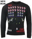 Santa Invaders RUN & FLY Retro Christmas Jumper
