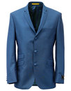 SCOTT RETRO MOD 3 BUTTON SUIT TURQUOISE MOHAIR