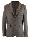 luke 1977 retro mod tweed windowpane check blazer