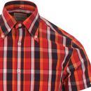 SKA & SOUL Mod Check Spear Point Collar Shirt (BR)