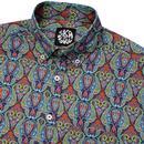 SKA & SOUL 60's Retro Psychedelic Paisley Shirt