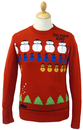 SNOW INVADERS RETRO 70S INDIE CHRISTMAS JUMPERS