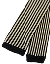 Retro 1960s Mod Silk Stripe Square End Knitted Tie