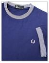 FRED PERRY Men's Retro Stripe Rib Pique T-Shirt RN