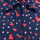 Catrina SUGARHILL BRIGHTON Heart Leopard Shirt
