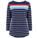 Sugarhill Brighton Brighton Jersey Breton Top in Coastal Stripes Navy