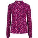 Sugarhill Brighton Queenie Retro Confetti Petals Shirt in Pink