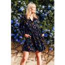 Thea SUGARHILL Retro 70s Smock Wild Floral Dress