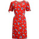 sugar hill brighton womens kalinda cosmos midi floral print dress red