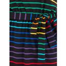 Hetty SUGARHILL Retro Night Rainbow Stripe Dress