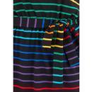 Hetty SUGARHILL Retro Night Rainbow Stripe Dress