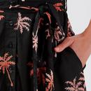 Kendra SUGARHILL Batik Palm Tree Print Shirt Dress