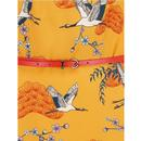 Ohara Birds SUGARHILL BOUTIQUE Dress In Mustard
