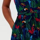 Tallulah SUGARHILL Birds of Paradise 70s Sundress