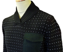 Gauge SUPREMEBEING Shawl Neck Retro 60s Jumper B