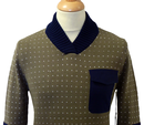 Gauge SUPREMEBEING Shawl Neck Retro 60s Jumper (O)
