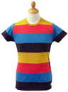 Row SUPREMEBEING Retro Indie Colour Hoop T-Shirt