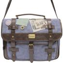 BEATLES RETRO BAGS TOUR TAPE SATCHEL SHOULDER BAG