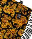 TOOTAL 60s Mod Large Paisley Motif Silk Scarf B/G