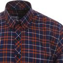 TOOTAL Mod Button Down SS Check Shirt (Navy/Rust)